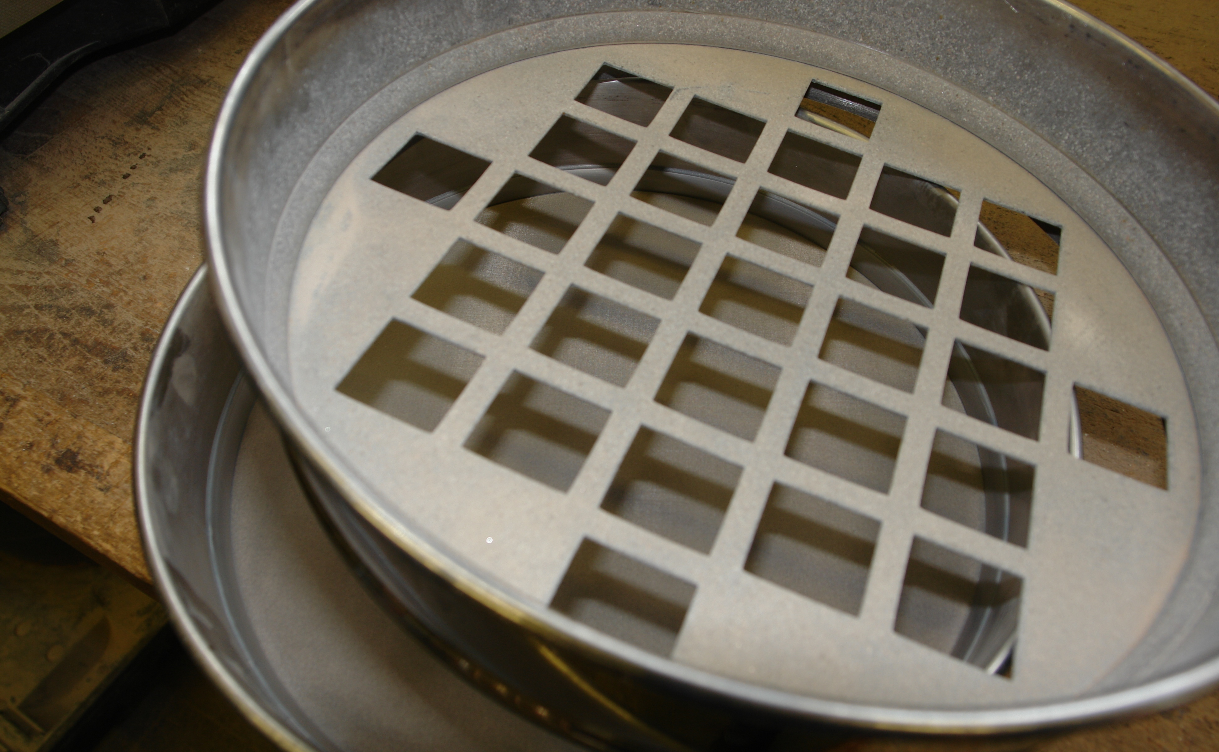 Close up of sieve